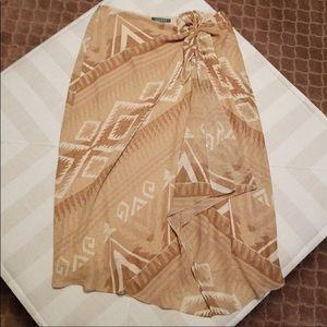 Ralph Lauren Skirts - EUC Beautiful Faux Wrap Skirt. Aztec Print